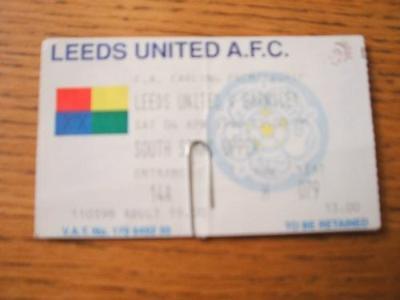04/04/1998 Ticket: Leeds United v Barnsley  (Creased &