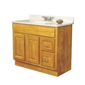 sunco 36 inch oak bathroom vanity 2 door 2 drawer 21 034 d ebay