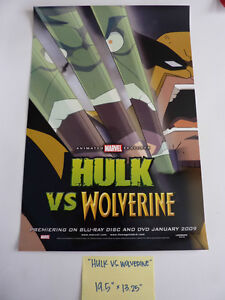 SDCC-HULK-VS-WOLVERINE-POSTER-MARVEL-AVENGERS-EXCLUSIVE