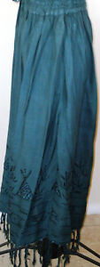 Maxi Gypsy/Hippy Boho Skirt. One Size fits S;M;L & XL.  Black, Green and Blue.
