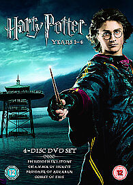 Harry-Potter-Collection-Years-1-4-DVD-2006-4-Disc-Set-Box-Set