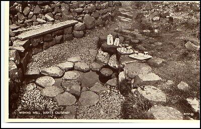Nordirland Giant´s Causeway ~1930 Wishing Well Postcard
