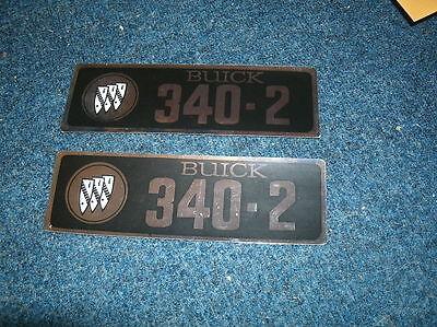 1966 Buick Lesabre Gs 340 V8 Valve Cover Decals Pr