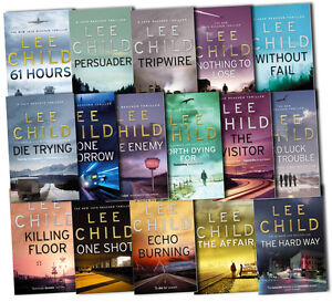 Lee Child Collection Jack Reacher Complete Series 16 Books Set The Affair New