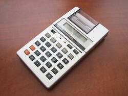 NEW Vintage 1981 NOS CASIO LCD Calendar printing Alarm Clock Calculator