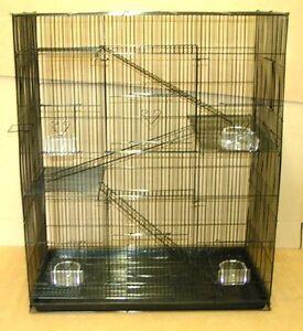 4-level-Rat-Chinchilla-Sugar-Glider-Cage-Cages-SA2483-Black