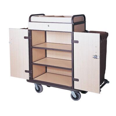 Maid Cart New Housekeeping Oak Finish W Divider