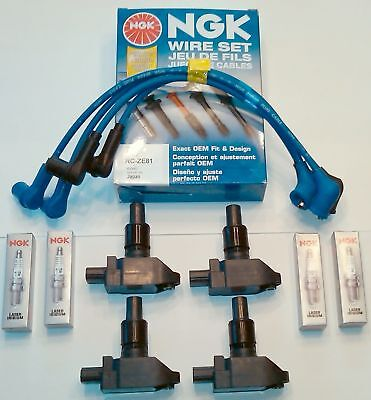 GENUINE MAZDA RX8 MAZDA IGNITION COIL COILS NGK SPARK PLUG NGK WIRE SET EURO