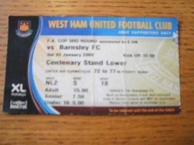 03/01/2009 Ticket: West Ham United v Barnsley [FA Cup]