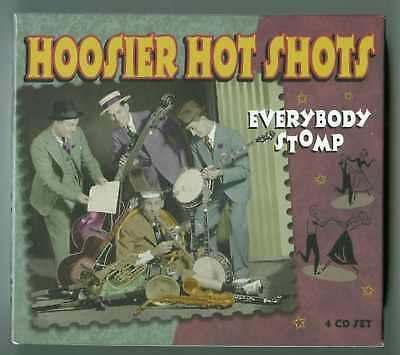 HOOSIER HOT SHOTS Everybody Stomp 100 SONG New Sealed DELUXE PROPER BOX SET 4 CD on Rummage