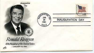 1981 Reagan Artcraft #1 Inauguration Washington  Cover