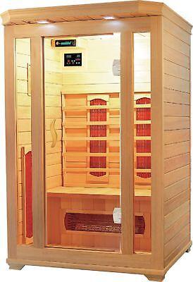 2 Person Premium Infrared Sauna Hemlock Ceramic Saunas