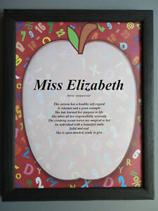TEACHER-SCHOOL-Meaning-of-YOUR-Name-Personalized-GREAT-GIFT