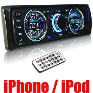 In Dash SD USB MP3 iPhone Car Stereo Radio Player 3892