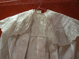ancienne robe bapteme et sa cape 19e broderie anglaise ebay. Black Bedroom Furniture Sets. Home Design Ideas
