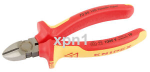 Knipex 70 08 140 VDE Fully Insulated Diagonal Side Cutters 140mm - Draper 31925
