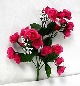 Silk Roses Open buds 240 Artificial Flowers 12 Bushes