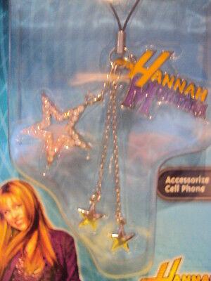 Girls Disney Hannah Montana Cell Phone Dangler Charm Star & Logo
