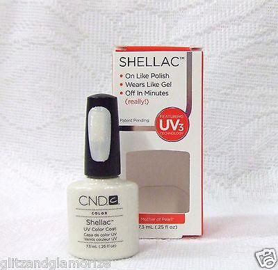 Cnd Creative Nail Shellac Gel Polish Mother Of Pearl .25oz/7.3ml