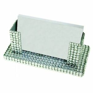 Bling desk business card holder crystal clear ebay for Bling business card holder