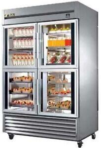 True Ts 53 4 G 4 Pt Commercial Refrigerator Glass Split