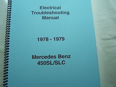1978 1979 Mercedes 450sl 450slc Owners Electrical Service Manual W107