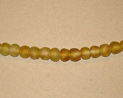 Beautiful Fair Trade Unenhanced Handmade Artisan Recycled Glass Beads Citrines