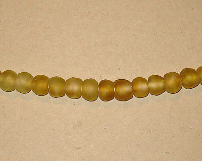 Beautiful Fair Trade Unenhanced Handmade Artisan Recycled Glass Beads Citrines
