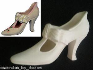 bow high heel shoe ceramic bisque ready to paint craft