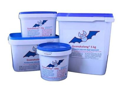 GUANOKALONG POWDER FERTILIZZANTE FERTILIZER 1Kg guano di pipistrello