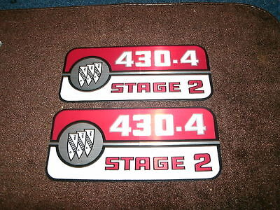 1969 Buick 430 4v Stage 2 Valve Cover Decals Pair