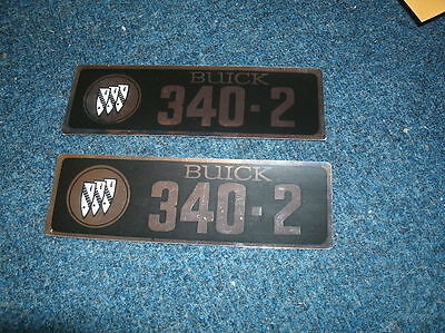 1967 Buick Lesabre Gs 340 V8 Valve Cover Decals Pr