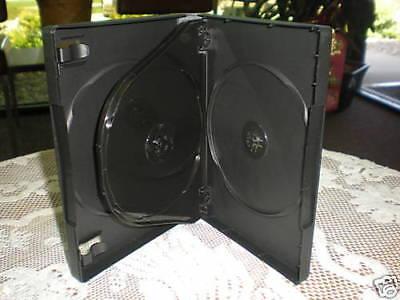1 Top Quality Black 27mm Quad 4 Disc Dvd Case Wbooklet Clips Psd70c27 Free Ship