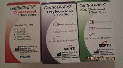 Cardiochek Cholesterol + Triglycerides+ Hdl Cholesterol (pack Of 3 Kinds)
