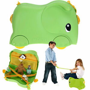 Kinderkoffer-MOLTO-Rutscher-Kinder-Koffer-Elefant-GRUN