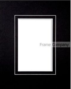 Packs-of-10-Black-White-or-Ivory-Picture-Photo-Mounts