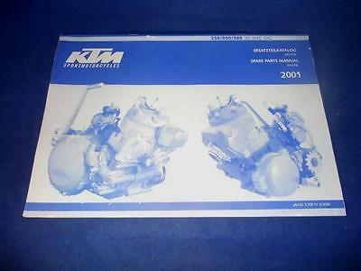 KTM Spare Parts Manual Engine 01 250 300 380 SX MXC EXC