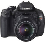 Canon EOS Rebel T3i / EOS 600D 18.0 MP Digital SLR Camera - Black (Kit w/ EF-S IS II 18-55mm Lens)
