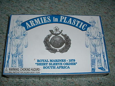 Armies in Plastic1/32 54mm Box# 5574 South Africa Royal Marines1879 Shirt Sleeve