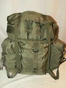 LARGE-OD-Green-ALICE-COMBAT-LC-1-Field-Pack-VG-Military-GENUINE-US-Military