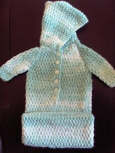 Details about  Premature Baby Sleeping Bag Knitting Pattern