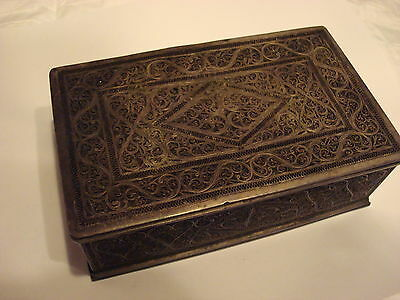 Antique 18TH Century Persian Silver Filigree Box