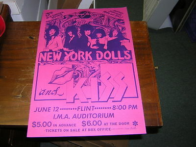 NEW YORK DOLLS / KISS ACE frehley 70'S POSTER