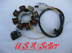 NEW-Magneto-Stator-Coil-Pick-Up-GY6-Scooter-Moped-Go-Kart-50cc-50-49cc-TaoTao