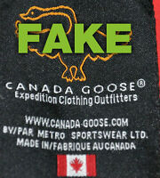 Canada Goose' chilliwack fake vs real