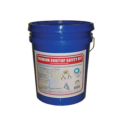 Roof Safety Kit  Bucket, Harness, Rope, FALL PROTECTION roofing fall arrest