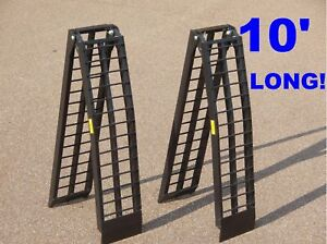 NEW-10-ft-ALUMINUM-ATV-LOADING-RAMPS-truck-ramp-pair