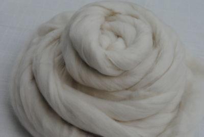 Heidifeathers Organic White Merino Wool Top / Roving 500g Felting + Spinning