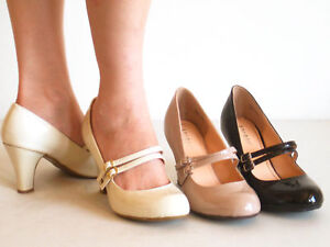 New-Comfy-Heel-Classic-Round-Toe-Mary-Jane-Pumps-Patent