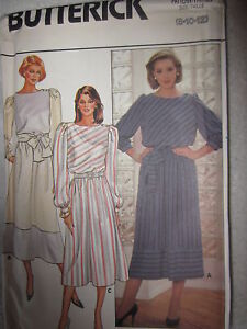 VINTAGE-Butterick-Pattern-6825-Misses-Pullover-Dress